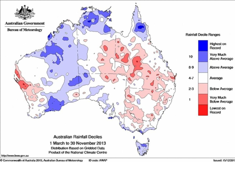 australia-rainfall-decile-1-march-to-30-november-2013