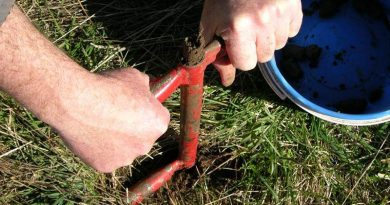 soil testing on Moffitts Farm