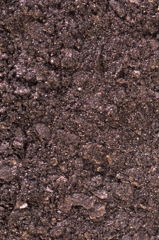 Glomalin, extracted from undisturbed Nebraska soil and then freeze-dried. Photo: Keith Weller.