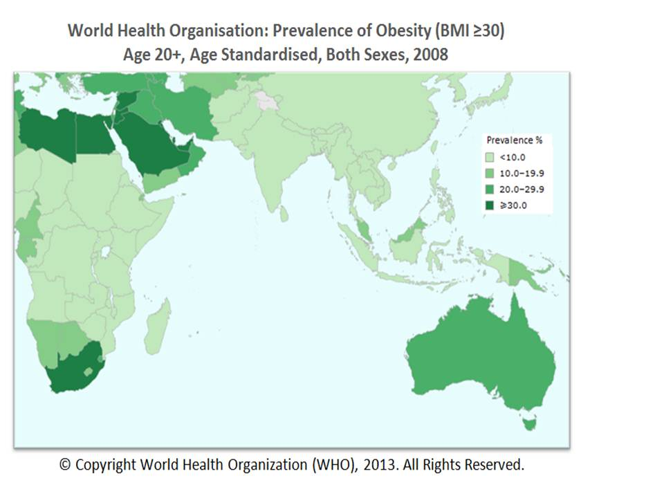 Food obesity Asia 2008 Source WHO