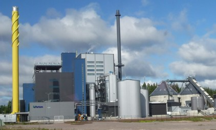 This new combined heat and power (CHP) plant uses around 150,000 tonnes a year of woodchips from local forests and produces about 23 megawatts of electricity.