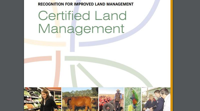 Certified land management document front cover