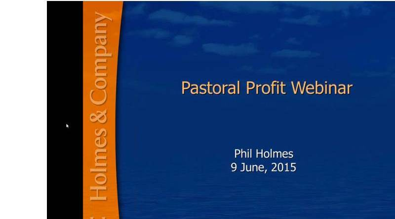 screen shot of pastoral profit webinar home page