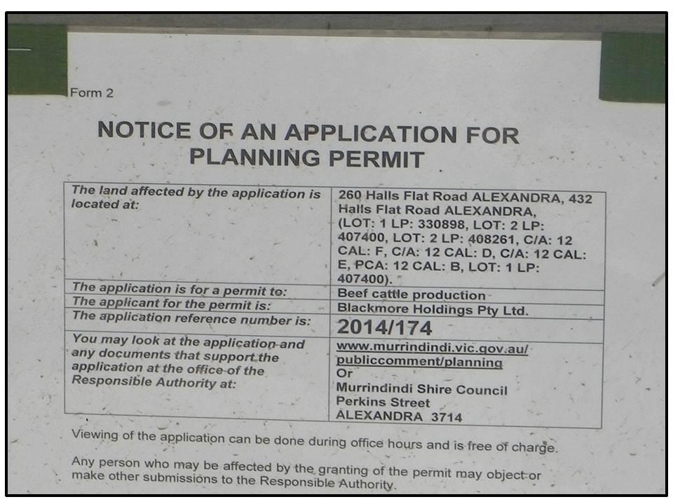Blackmore Wagyu permit sign B 30 December 2014