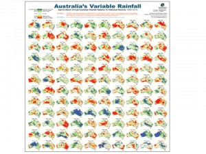 Australia variable rainfalll 1900 to 2010